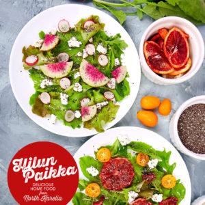 Hilun Paikka noutoruoka salaattimix neljälle